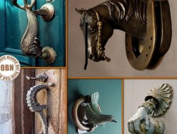 Not everybody has the budget or talent to create an amazing entry way, but a door knocker can be installed with only a tiny bit of DIY knowledge. Which of these do you like best?