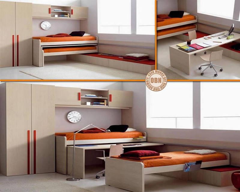 When it comes to bedroom furniture that can be put away when not in use, does it get any better than this?