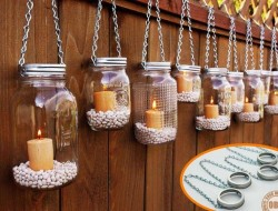 Looking for a simple weekend project? Why not make one of these hanging mason jar lanterns?