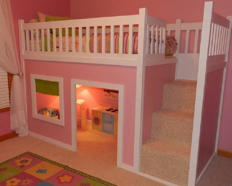 Bed with proper safety rails up top. Cubby underneath. Looks pretty good, but can it be improved?