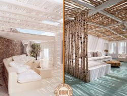Here are two similar but different ways to use beech wood for decorative purposes.