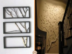 Here are two creative ways of using branches to create a unique feature wall. Which of the two would you like in your home?