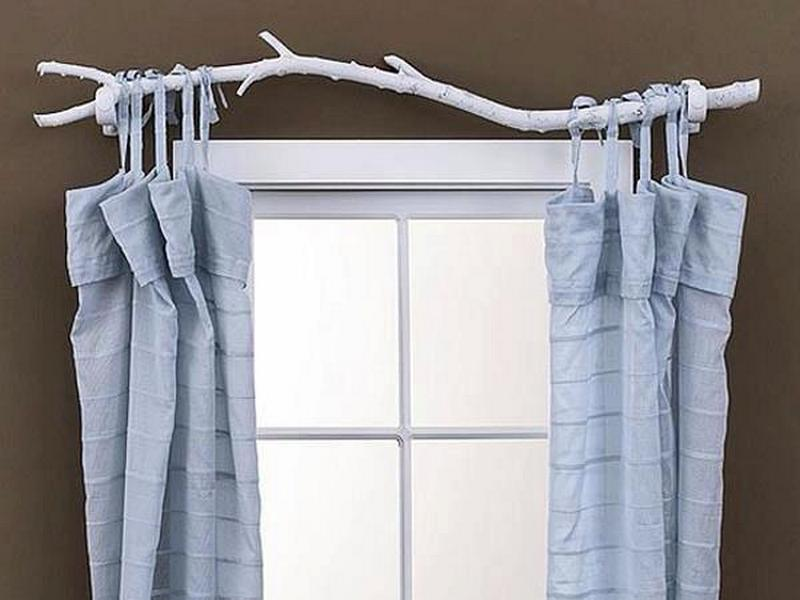 """It's free, it's natural and in my opinion, very attractive. My only concern is that you would need a """"neater"""" branch, if you actually wanted to close the curtains."""