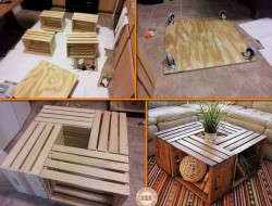 Looking for unique ways to recycle old wooden crates? This idea might be for you.