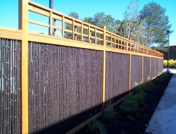 Black Rolled Bamboo Fence Panel - Bamboo Fencer
