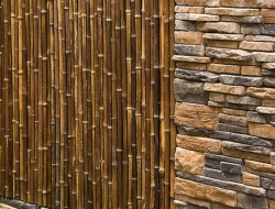 Culture Stone and Bamboo Garden Wall