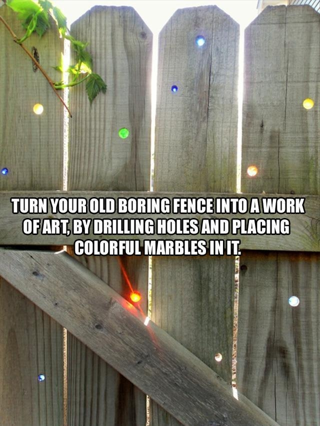 Tired of your old boring fence? Here's an idea that will make it magical.