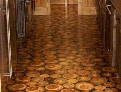 Flooring Ideas -  Cordwood Construction