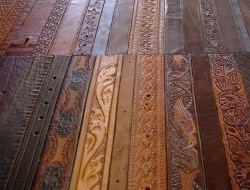 Leather Belt Flooring - The Awesomer
