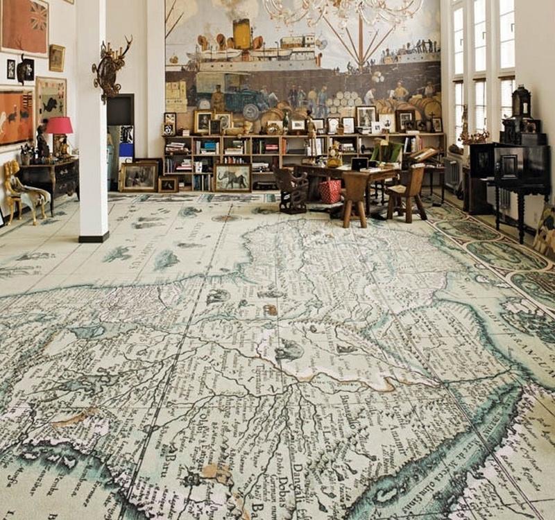 World Map Carpets by Area Pavimenti