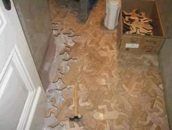 Hardwood Escher tesselated interlocking lizard tiles