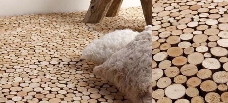 End Grain Driftwood Flooring - Bleu Nature