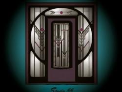 Arts & Crafts Door with Circular surround - Designed on Corel.