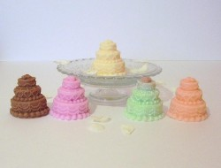 Colorful Multi-Tiered Mini Cakes