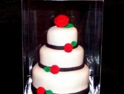 White Multi-Tiered Mini Cake