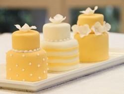 Yellow Multi-Tiered Mini Cake