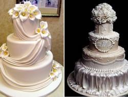 White Multi-Tiered Mini Cakes