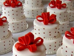 Multi-Tiered Mini Cake with Ribbons