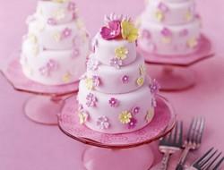 Multi-Tiered Mini Pink Cakes