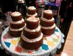 Multi-Tiered Mini Chocolate Cakes