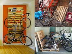 Have you repurposed any pallets? Why not build one of these recycled pallet bike racks?