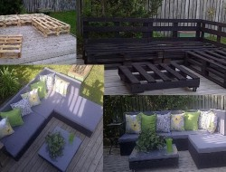 This is definitely not a one pallet project, but if you can score enough of them, this would make a great outdoor space.