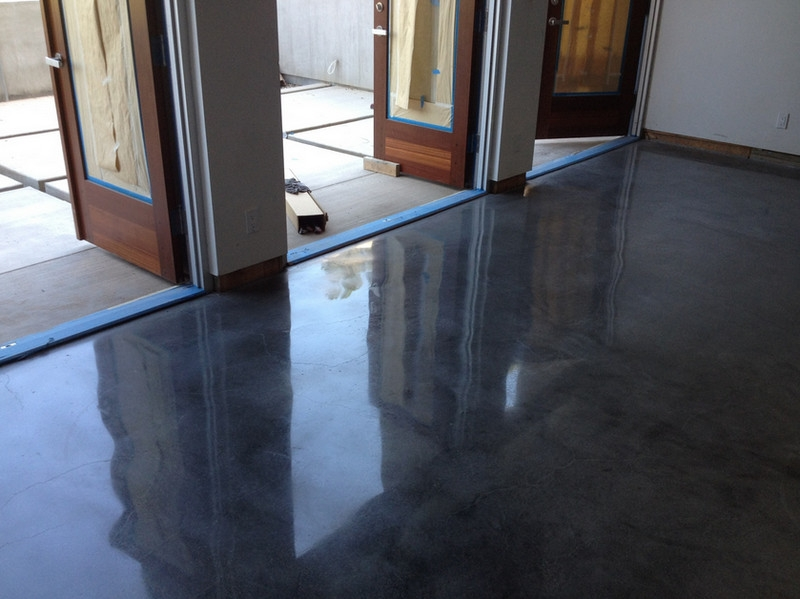 Polished concrete floors are extremely durable and economical on a lifetime value basis