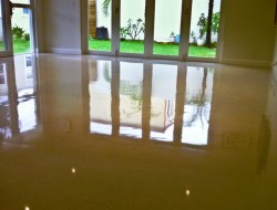 Polished concrete - high gloss finish