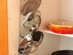 Magazine rack turned into pot lid holder!