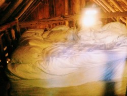 The loft sleeping area