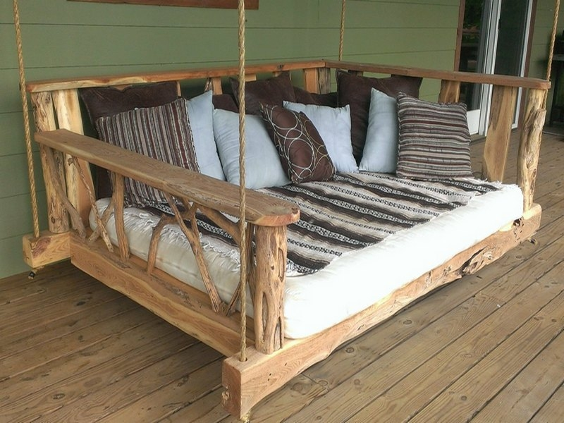 After a long week of work we deserve a nice, quiet place to escape. Would this swing bed help?