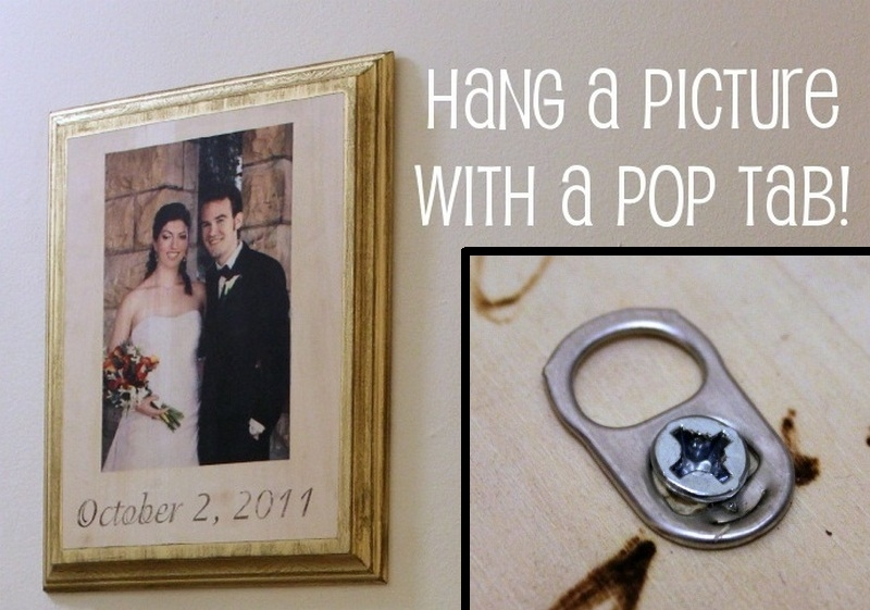 Here's a simple idea for hanging pictures ;)