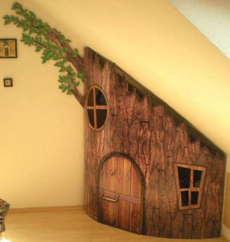 Here's an 'under the stairs' idea the kids would love!