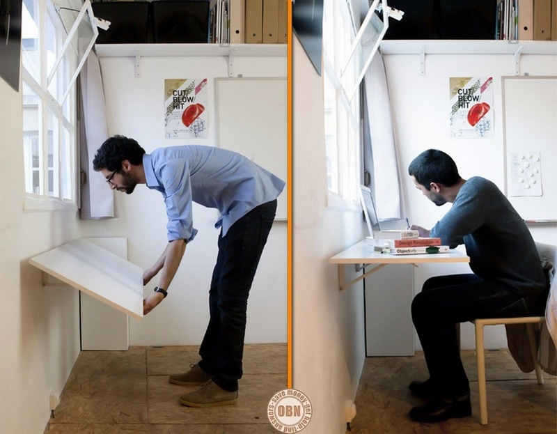 It doesn't get much simpler than this. Brilliant for a small apartment or studio!