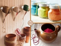 Keep strings or yarn from getting tangled using items readily available in your home!