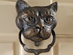 Cat Head Door Knocker