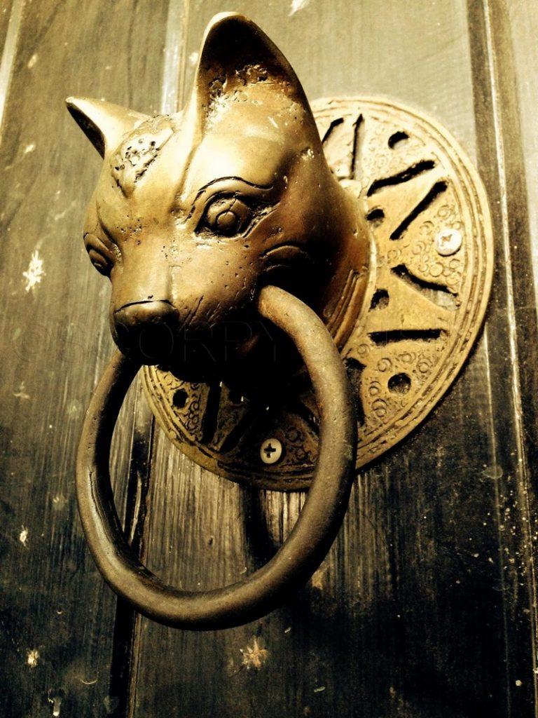 Cat Head Door Knocker