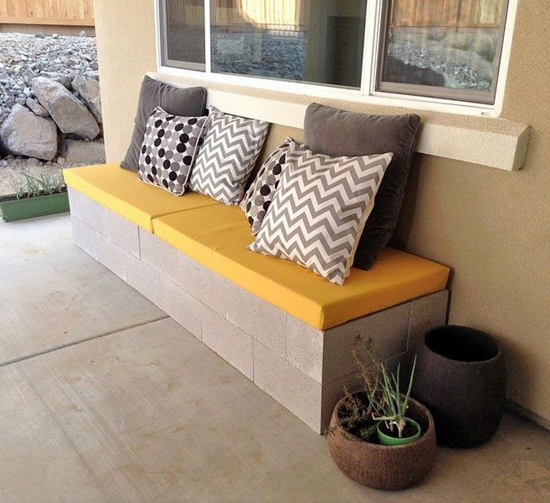 Charmant Cinder Block Outdoor Bench Samples