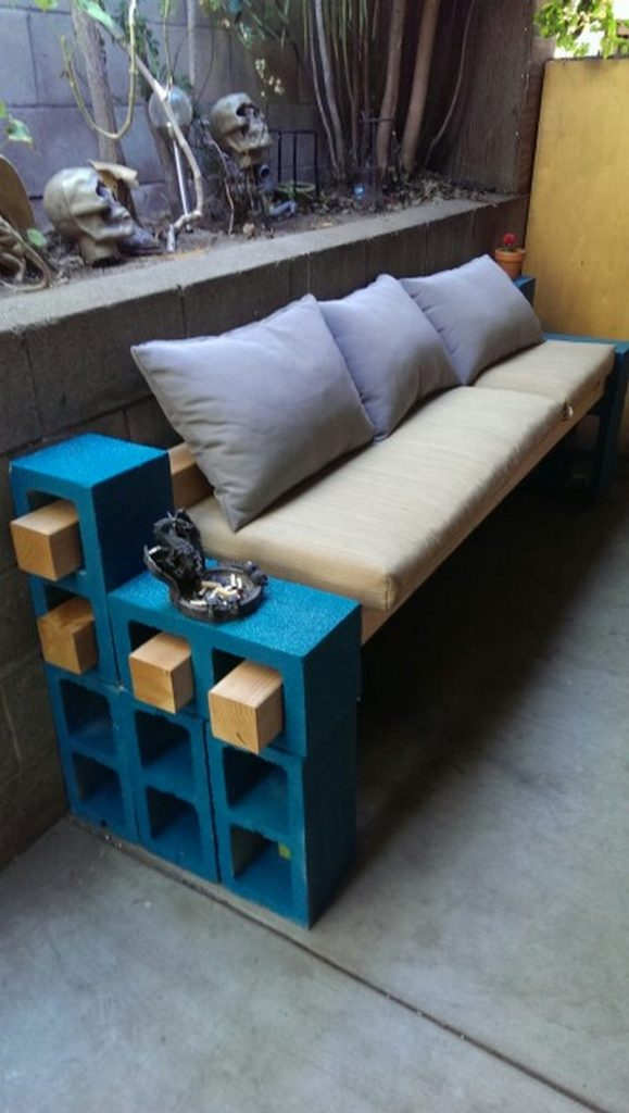 Merveilleux Cinder Block Outdoor Bench Samples
