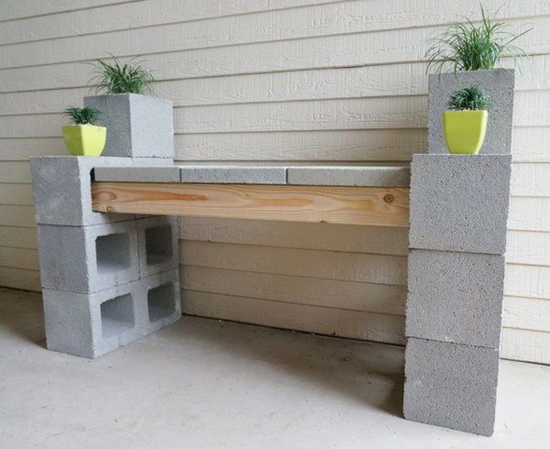 Swell Diy Cinder Block Outdoor Bench The Owner Builder Network Spiritservingveterans Wood Chair Design Ideas Spiritservingveteransorg