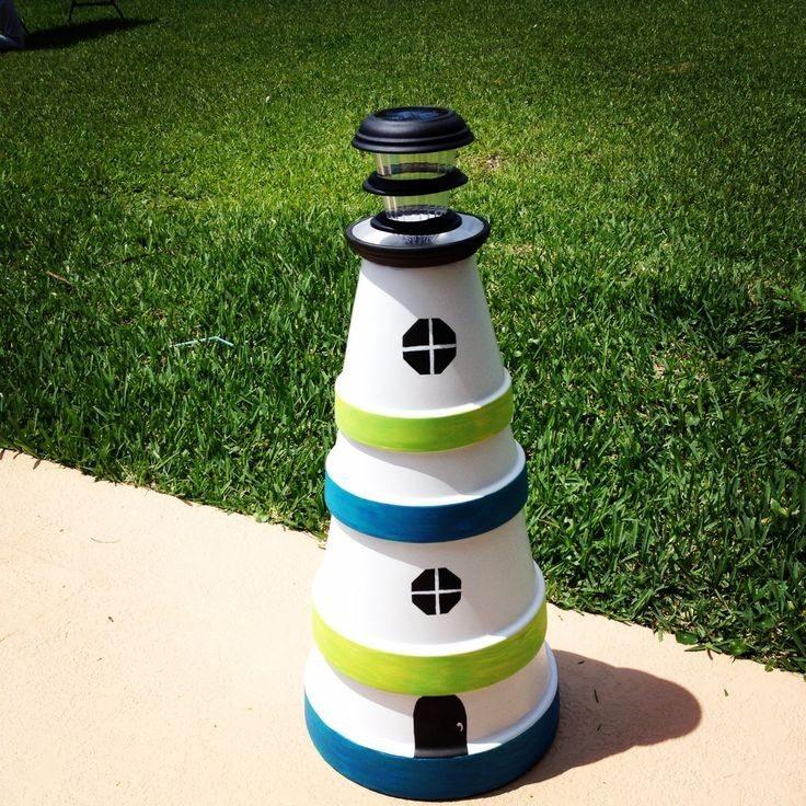 DIY Clay Pot Lighthouse – The Owner-Builder Network Plant Pot Lighthouse on clay pot lighthouse, diy flower pot lighthouse, plant container lighthouse, cat pot lighthouse,