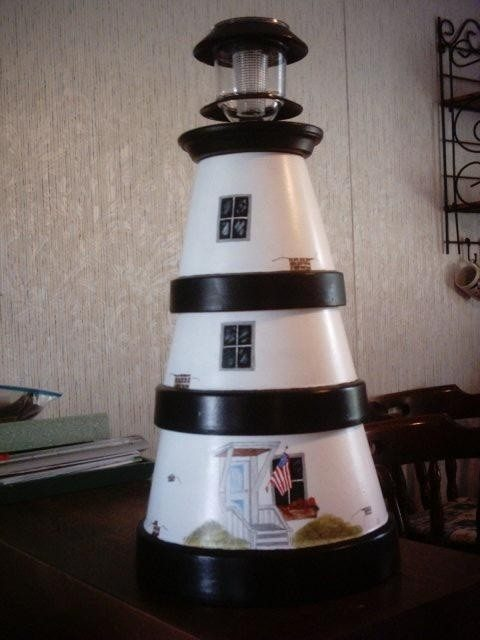 Diy Clay Pot Lighthouse The Owner Builder Network