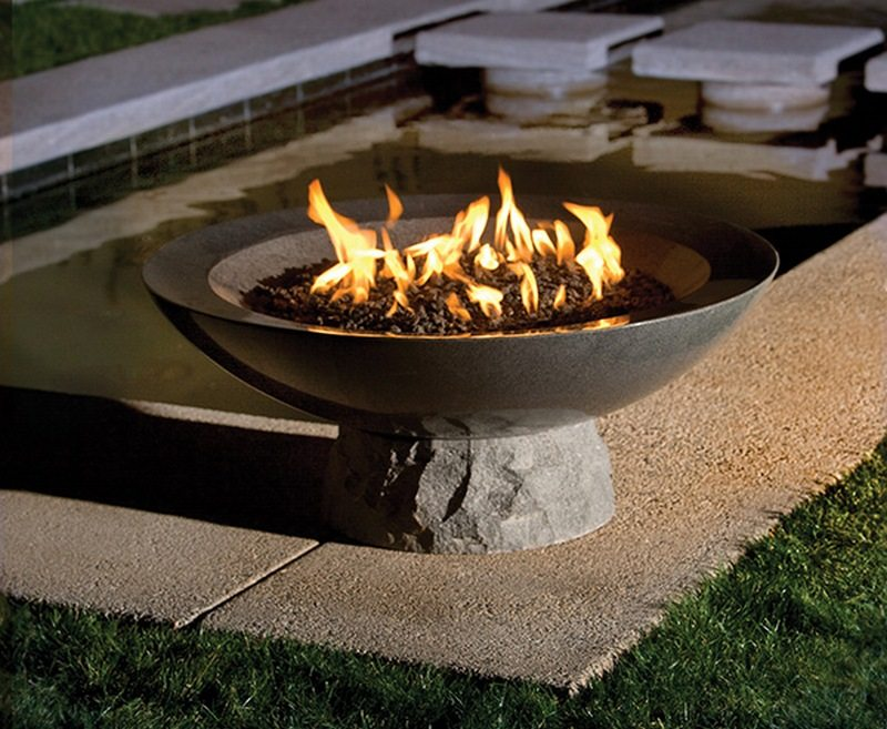 diy fire pit concrete bowl metal replacement square