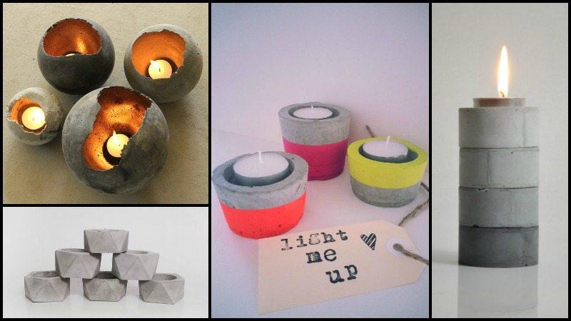 DIY Cement Candleholder