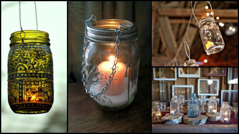 DIY Mason Jar Lanterns Montage