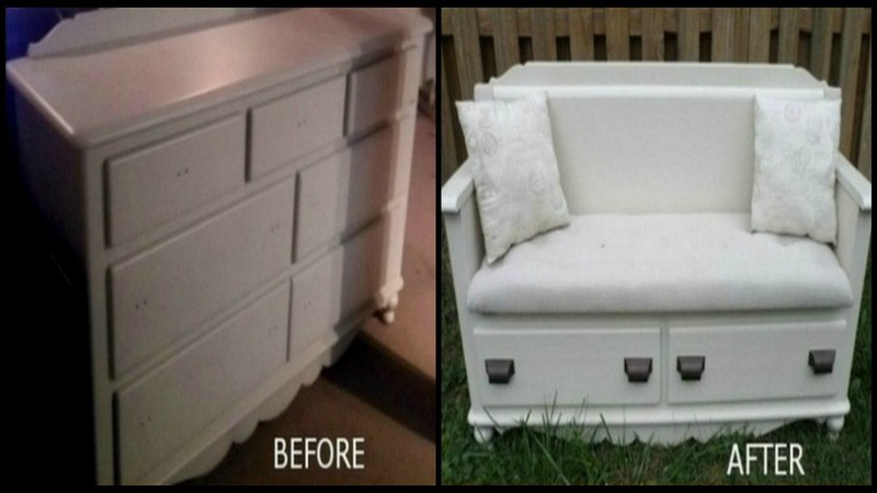 Astounding Dresser Upcycled Into A Bench The Owner Builder Network Uwap Interior Chair Design Uwaporg