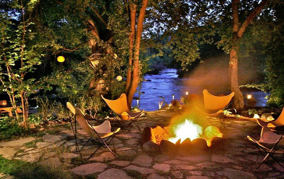 Evening around the firepit - Kaweah Falls