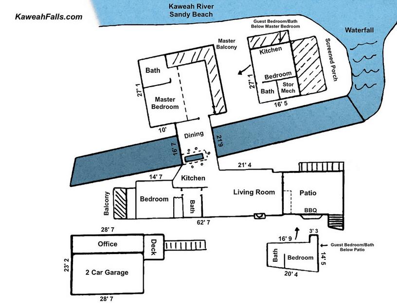 Floor plan of home - Kaweah Falls