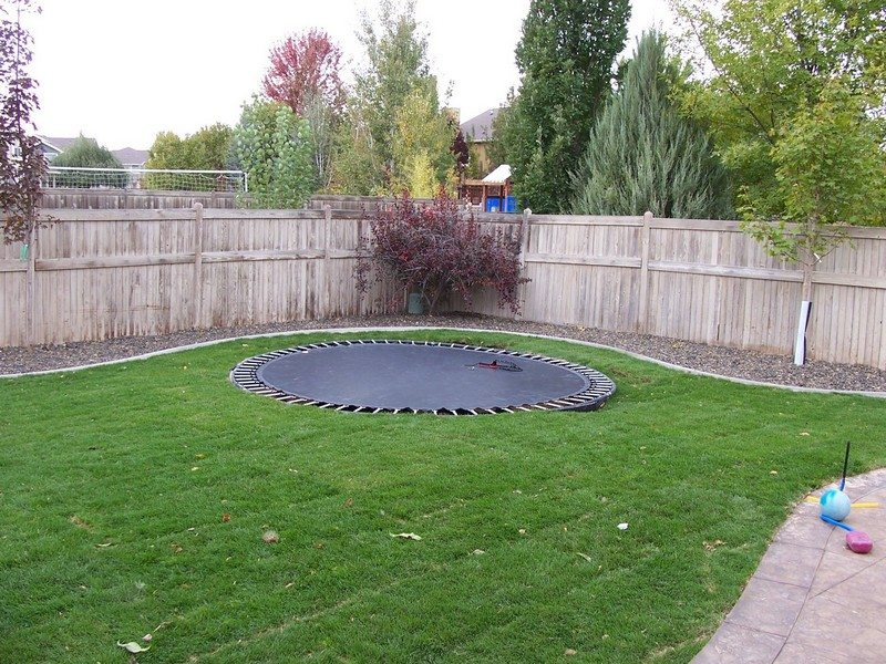 diy inground trampoline the owner builder network. Black Bedroom Furniture Sets. Home Design Ideas