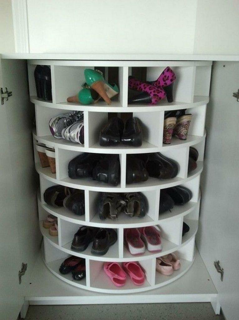 Lazy Susan Shoe Storage Examples